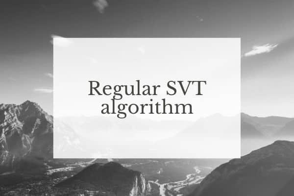 Regular SVT algorithm